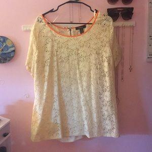 Style & co. woman's plus size lace blouse